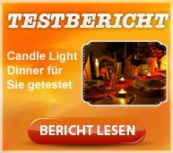 Candle Light Dinner im Test - Erfahrungsbericht
